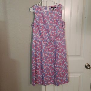 Brooks Brothes Blue and Pink Floral Dress